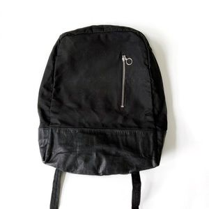 FORMER Leather and canvas backpack